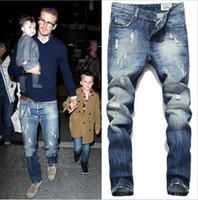 Foro da uomo in cotone moda alta qualità Jeans Uomo Beckham con sezione  casual business Jeans af05a00ad371