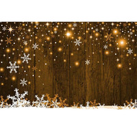 Spada płatki śniegu Brązowy drewniany ścienny tło dla fotografii bokeh polka kropki dziecko dzieci boże narodzenie impreza fotografii budka tło
