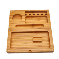 Raw Wood Cigarette Rolling Tray 220mm Length Smoking Accesso...