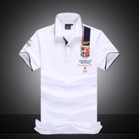 2018 neue Designer Polo Shirts Männer Shorts Hülse Polo Shirts 100% Baumwolle Stickerei Herren Luxus Designer Patchwork Polo T-Shirts