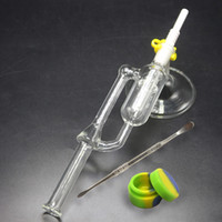Glass Water Bongs With Stand Base Wax Dab Rigs Ceramic Tip 1...