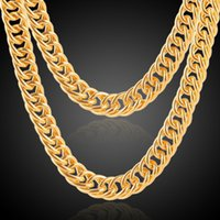 2018 Fashion Men Women 18k gold plated Necklace 3mm 10mm 24i...