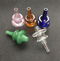 Новые цветные Hover Cap стекло carb cap соответствия тепловой 4 мм толщиной кварц сосиска ногтей пять цветов доступны Domeless enail carb cap