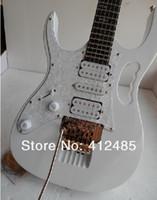 무료 배송 고품질 플로이드 케이스가있는 왼손잡이 흰색 JEM 7V 일렉트릭 기타