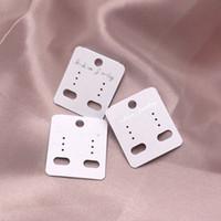 200 قطعة / الوحدة الأبيض pvc القرط عرض الأزياء والمجوهرات بطاقة شنق العلامة اليدوية القرط مربط بطاقة التعبئة