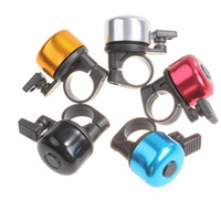 Алюминиевый сплав громкий звук велосипед колокол руль металлическое кольцо Велоспорт Рог классический кольцо Рог безопасности для велосипеда случайный цвет