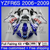 Cuerpo para YAMAHA YZF R6 S R 6S YZF600 YZFR6S 06 07 08 09 231HM.17 YZF-600 YZF R6S azul claro blanco YZF-R6S 2006 2007 2008 2009 Fairings Kit