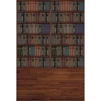 Graduation Season Vintage Bookshelf Fotografía Telón de fondo Suelo de madera Digital Printed Books Bebé Niños Niños Photo Studio Backgrounds