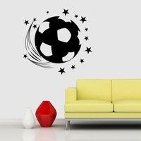 3D футбол футбольная площадка Вид из окна Главная наклейки стикер стены для мальчиков номер Спорт декор росписи