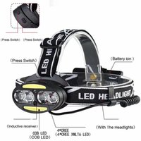 led headlamp IR sensor rechargeable led headlight 4 cree xml...