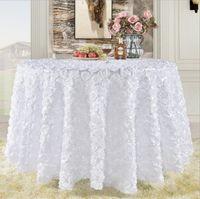 그레이트 개츠비 3D 장미 꽃 웨딩 테이블 천으로 라운드 및 웨딩 케이크 테이블 아이디어 가장 무도회 생일 파티 화이트 부르고뉴 옐로우