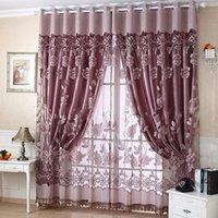 Einfach und modern, reich und schön, schön und romantisch, Jacquard, verbrannt, halbschattig, einfach zu montieren, fertiger Vorhang