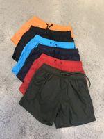 M517 Hombres Pantalones cortos sarga pantalones cortos deportivos de ocio de alta calidad Pantalones de playa Traje de baño Bermudas Carta Masculina Surf Life Men Swim