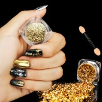 0. 2g Gold Silver Glitter Aluminum Flakes Magic Mirror Effect...