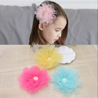 New Yran Big Flower Hairpins Colorful Flora ChildrenHair Orn...