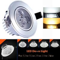 POWER LED taklampa 9W 12W 15W 21W 27W 36W 85-265V LED-belysning Spotlight nedljus med LED-enhet