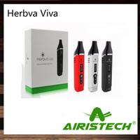 Airis Herbva Viva Kit Premium Portátil Vaporizador Com 2200 mAh Bateria Display OLED Airistech Câmara De Cerâmica 100% Original