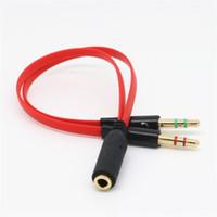 Аудио кабель джек 3.5 мм 2 в 1 микрофон наушники кабель-удлинитель позолоченный 3.5 мм сплиттер AUX кабель для компьютера микрофон