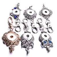 Noosa Snap Button Jewelry Owl Snap Llaveros Crystal 18MM Snap Button Keychains Llaveros Llaveros para mujeres