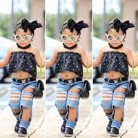 Baby Girl Clothes Sets Kids Girls Summer Off Shoulder Tops T...
