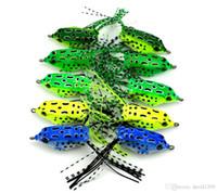 Мягкие трубки приманки Япония пластиковые рыболовные приманки лягушка приманки тройные крючки Topwater ray лягушка 5.5 см 8 г искусственные мягкие приманки