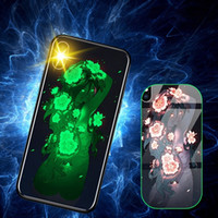 Luminous Light Tempered Glass Phone Case for iPhone X 8 7 6 ...