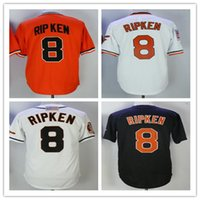 men' s #8 Cal Ripken jr jersey White Cheap Home Away Whi...