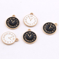 17*13mm Fashion Enamel clock charms Alice in wonderland pend...