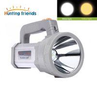 Lampe de poche LED USB Portable Lanterne 3 Modes Projecteur de Recherche Camping Llight Rechargeable 18650 Torche Lumière Portable pour Extérieur