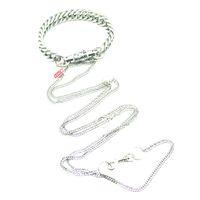 Attache rapide et collier de dégagement en acier inoxydable pour la retenue de bandage dans le jeu BDSM (Taille: Six sortes Couleur: Argent)