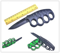 outdoor hiking camping cold steel knuckle knives, flip out kn...