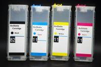 HP82 / 11 CISS para impresora HP Desingjet 111 HP82K, cartucho de tinta HP11CMY chip de reinicio automático