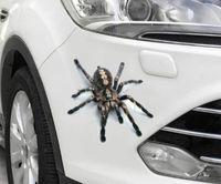Noir / Rouge 3D araignées autocollants de voiture réaliste Realastic Auto Body arrière porte miroir Bumper Body Auto élégant gros Stickers Films Accessoire