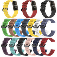 Replacement Strap Bracelet Soft Breathable Silicone Watch Ba...