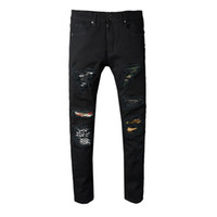 2018 New Arrival  Ripped Jeans Men High Quality High Street Jeans for Men Casual Style Hole Pencil Pants Hot Sale