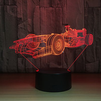 New 3d Lights F1 Racing Colorful Touch Lamp Acrylic Led Touc...