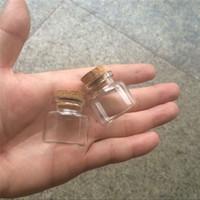 30 * 30 * 17 mm Mini botellas de 10 ml vidrio con corcho pequeño claro transparente Tiny vacíos viales de vidrio Tarros Tapones Botellas lindo 100pcs / lot