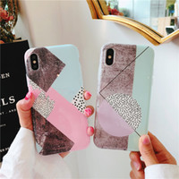 New Design Summer Style Fashion IMD Rhombus Pattern Marble C...