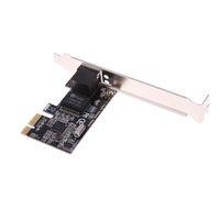 RTL8111E Adaptateur de carte réseau pour serveur RJ45 interne PCIe Gigabit Ethernet PCI-Express Compatible PCI-E X1 / X4 / X8 / X16 pour ordinateurs de bureau