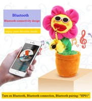Newest Novelty toys electric sunflowers toy singing and danc...