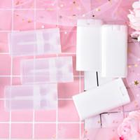 10 adet Temizle Beyaz Ruj Dudak Tüp Plastik Boş Diy Oval Dudak Tüpleri Yaklaşık 15g Taşınabilir Deodorant Konteynerler