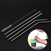 New Stainless Steel Straw Reusable Drinking Straw Hotel Coff...