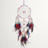 Handmade Fashion Design 4 Circle Dream Catcher with feather ...
