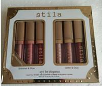 Neue marke make-up augen für eleganz set schimmer glitter liquid lidschatten 1 satz = 6 stücke reise lidschatten set paletten