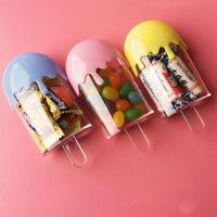 Lovely Popsicle Shape Niños Fiesta de cumpleaños Baby Shower Plastic Candy Box Paquete de regalo Cajas Envío gratuito