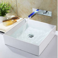 Waterfall Faucet Temperature Controlled Faucet Torneira LED ...