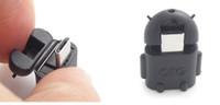 200pcs OTG adattatore Cartoon Robot Micro USB a cavo USB per Universal Android Smartphone e Tablet PC Tastiera del mouse con OTG