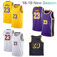 Superior Quality Men' s Basketball Jerseys #23 James Pur...