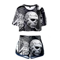 9d281ca986f9 Wholesale tattoo suit online - Navel set D Rick Genest printing Casual New  Summer Short sleeve