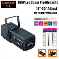 LED rentable 60W Blanco Zoom Spot Light 3200k / 6500K Ajuste manual 13-35 grados Leds Studio Effect Light CE Certificado